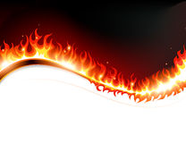 Fire and sparks. Fire with sparks against a dark background with place for  text Stock Photography