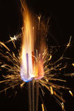 Fire and sparks closeup Royalty Free Stock Image