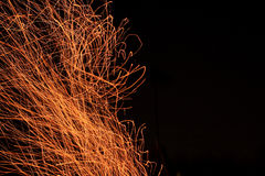 Fire sparks fly top Royalty Free Stock Photo