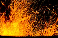 Fire and sparks Royalty Free Stock Photography