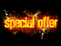 Fire Text Special Offer Royalty Free Stock Photo