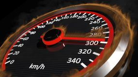 Fire speedometer Stock Photo