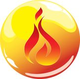 Fire sphere icon. Illustration of fire sphere icon Royalty Free Stock Photography