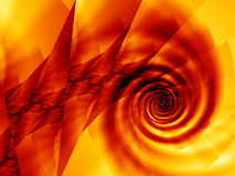 Fire Spiral Background Stock Image