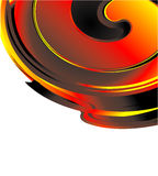Fire Spiral Business Card. Abstract Spiral of fire concept business card background Stock Photography