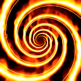 Fire spiral. Illustration of a spiral with flames royalty free illustration