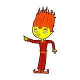 Fire spirit comic cartoon Stock Photography