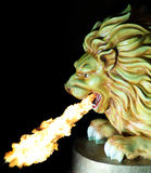 Fire Spitting Lion Stock Photo
