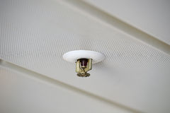 Fire Sprinkler. In a metal ceiling Royalty Free Stock Images
