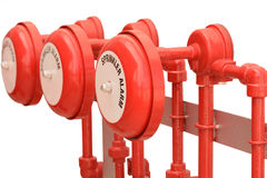 Fire sprinkler alarm for industries. Royalty Free Stock Photos