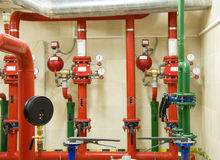 Fire sprinkler control system Stock Photography