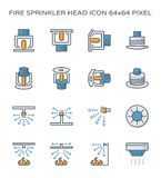 Fire sprinkler icon. Fire sprinkler head icon, 64x64 perfect pixel and editable stroke Royalty Free Stock Images