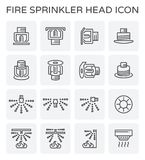 Fire sprinkler icon. Fire sprinkler system and device icon set Stock Images