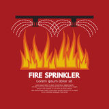 Fire Sprinkler Life Safety. Vector Illustration Stock Photography