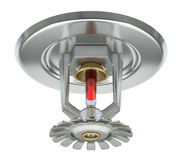 Fire sprinkler with vakuum sealed glass tube Stock Photography