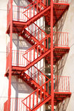 Fire stair. Hotel escape red fire stair Royalty Free Stock Photo