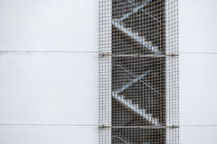 Fire stairs with grids Royalty Free Stock Image