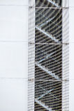 Fire stairs with grids Stock Images