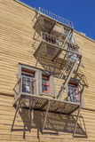 Fire stairs in historic Truckee Stock Photography