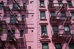 The fire stairs on old house in New York Royalty Free Stock Photos