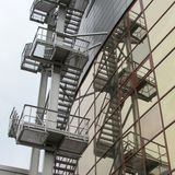 Fire stairs Stock Images