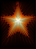 Fire star. Abstract background illustration Royalty Free Stock Images