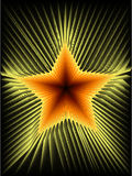 Fire star. Abstract background illustration Stock Photos