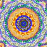 Fire Star. Kaleidoscope Image with a fire border Royalty Free Stock Photo