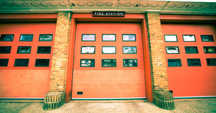 Fire station. Nice vintage toned image of a fire station in the UK Royalty Free Stock Images