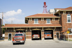 Fire station. In a small town in American Midwest Stock Photo