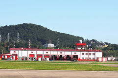 Fire station at the airport Royalty Free Stock Photography