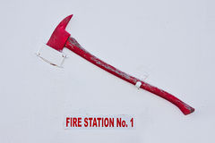 Fire Station Axe Stock Image