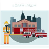 Fire Station Banner11. Vector image of the Fire Station Banner Royalty Free Stock Photography
