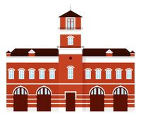 Fire station cartoon. Fire station vector isolated illustration Royalty Free Stock Photo