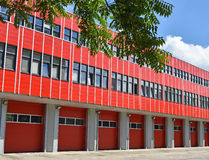 Fire station in the city Stock Image