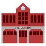 Fire station department building icon, vector illustration. Flat style design isolated on white. Colorful graphics Stock Image