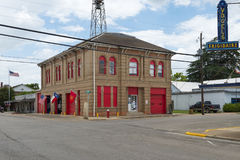 The fire station in the downtown of the city of Lockhart in Texas, USA. Lockhart, Texas - June 6, 2014: The fire station in the downtown of the city of Lockhart stock photography