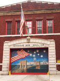 Fire Station FDNY Memorial Painting Royalty Free Stock Photo