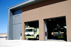 Fire Station With Fire Engines Royalty Free Stock Images