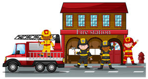 Fire station Stock Image