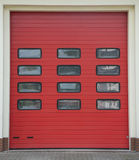 Fire Station Garage Row. Red colour Royalty Free Stock Photo