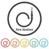Fire station icon, Fire Service icons set, 6 Colors Included. Simple  icons set Stock Photos
