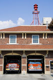 Fire station II. Fire station in a small town in American Midwest Royalty Free Stock Images
