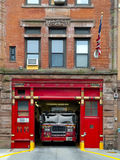 Fire Station in Manhattan. Fire Station entrance in Manhattan city, USA Stock Photos