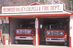 Fire station at Redwood Valley, Stock Photos