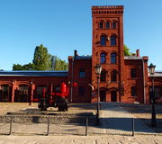 Fire station retro. The historic fire station at the former factory Scheibler. One of the most famous monuments of Lodz factory Royalty Free Stock Photo