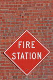 Fire Station Sign Stock Photo