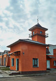 Fire Station with Tower. Royalty Free Stock Image