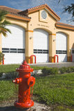 Fire Station2. Fire Station No. 3 in Central Florida with fire hydrant Royalty Free Stock Photography