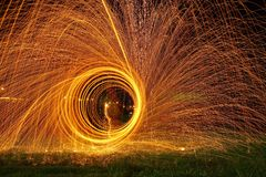 Fire. Stellwol  photograpy  night Stock Images